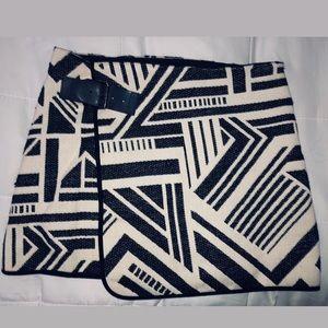 Zara Aztec wrap skirt